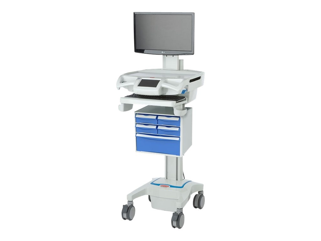Rubbermaid CareLink RX Fully-Featured LCD Medication Cart, 1874716, 31019919, Computer Carts - Medical