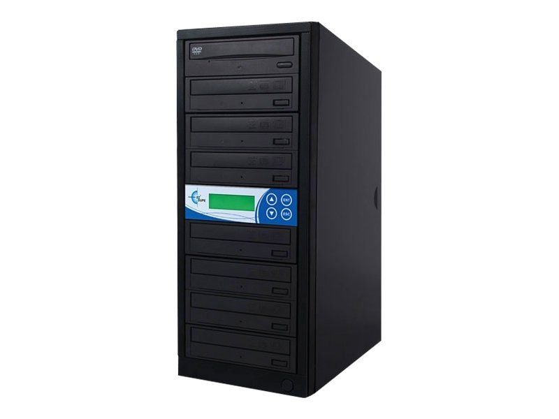 Ez-dupe 7-Target 24x USB 2.0 DVD CD Duplicator w  250GB Hard Drive - Black, GP7TPIOB, 15260198, Disc Duplicators