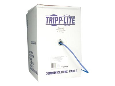 Tripp Lite Cat5e 350MHz Stranded PVC Ethernet Cable, Bulk, Blue