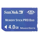 Sandisk 4GB Memory Stick PRO Duo Flash Memory Card SDMSPD-4096-A11