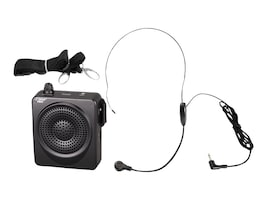 Pyle 50 Watt Portable, Waist-Band Portable PA System with Headset Microphone - Black, PWMA50B, 16549559, Music Hardware