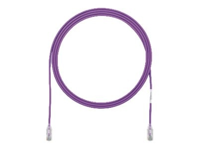 Panduit Cat6e 28AWG UTP CM LSZH Copper Patch Cable, Violet, 1ft