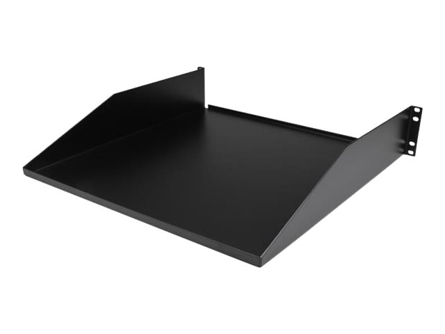 StarTech.com Cantilever 2-post Shelf Mid Center Mount 2U x 19 Black, CABSHF2POST, 14658073, Rack Mount Accessories