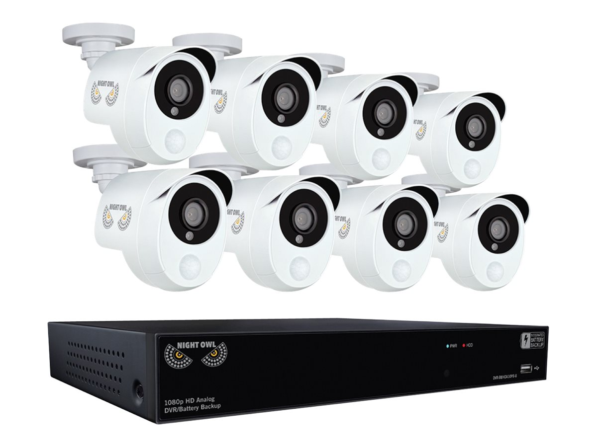 Night Owl Security System w  Infrared Camera, UPS