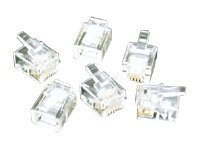 C2G RJ11 6x4 Modular Plug for Flat Stranded Cable, 50-Pack