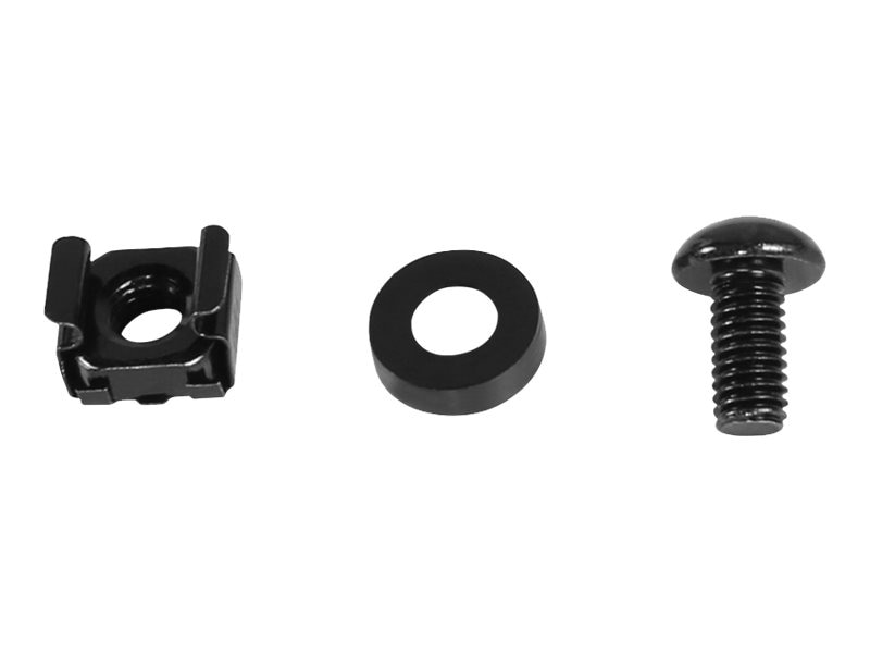 CyberPower Carbon Rack Hardware Kit M6 Cage Nuts, Screws, Cup Washers (50 Each), CRA60001