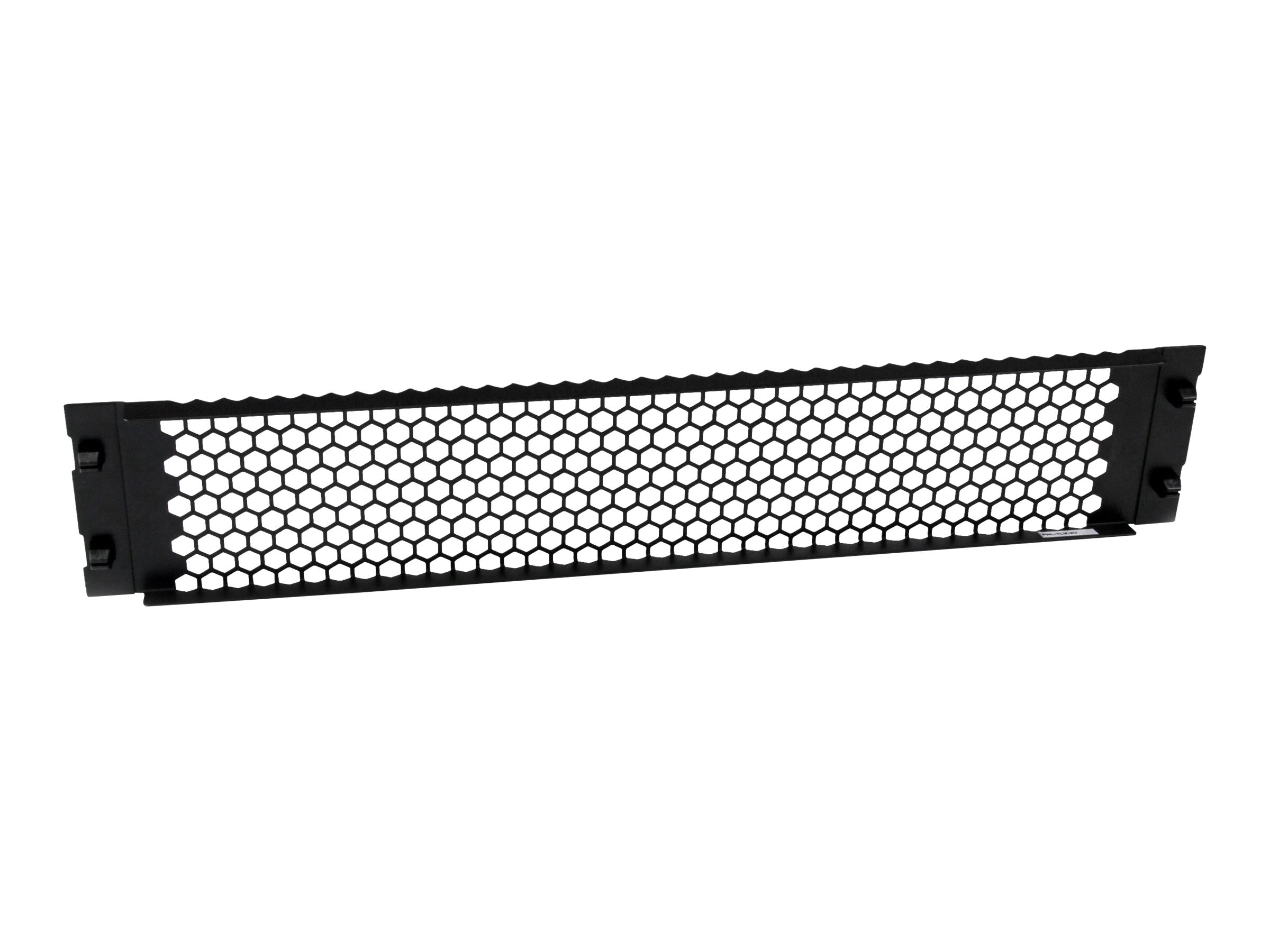 StarTech.com Tool-Less Vented Blank Rack Panel, 2U, RKPNLTL2UV