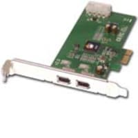 Siig FireWire 2-Port PCIE PCI Express X1 Card, RoHS, NN-E20012-S2, 6872029, Controller Cards & I/O Boards