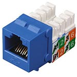 Black Box GigaBase 2 CAT5e Jack, Blue, FMT920-R2, 6874930, Premise Wiring Equipment
