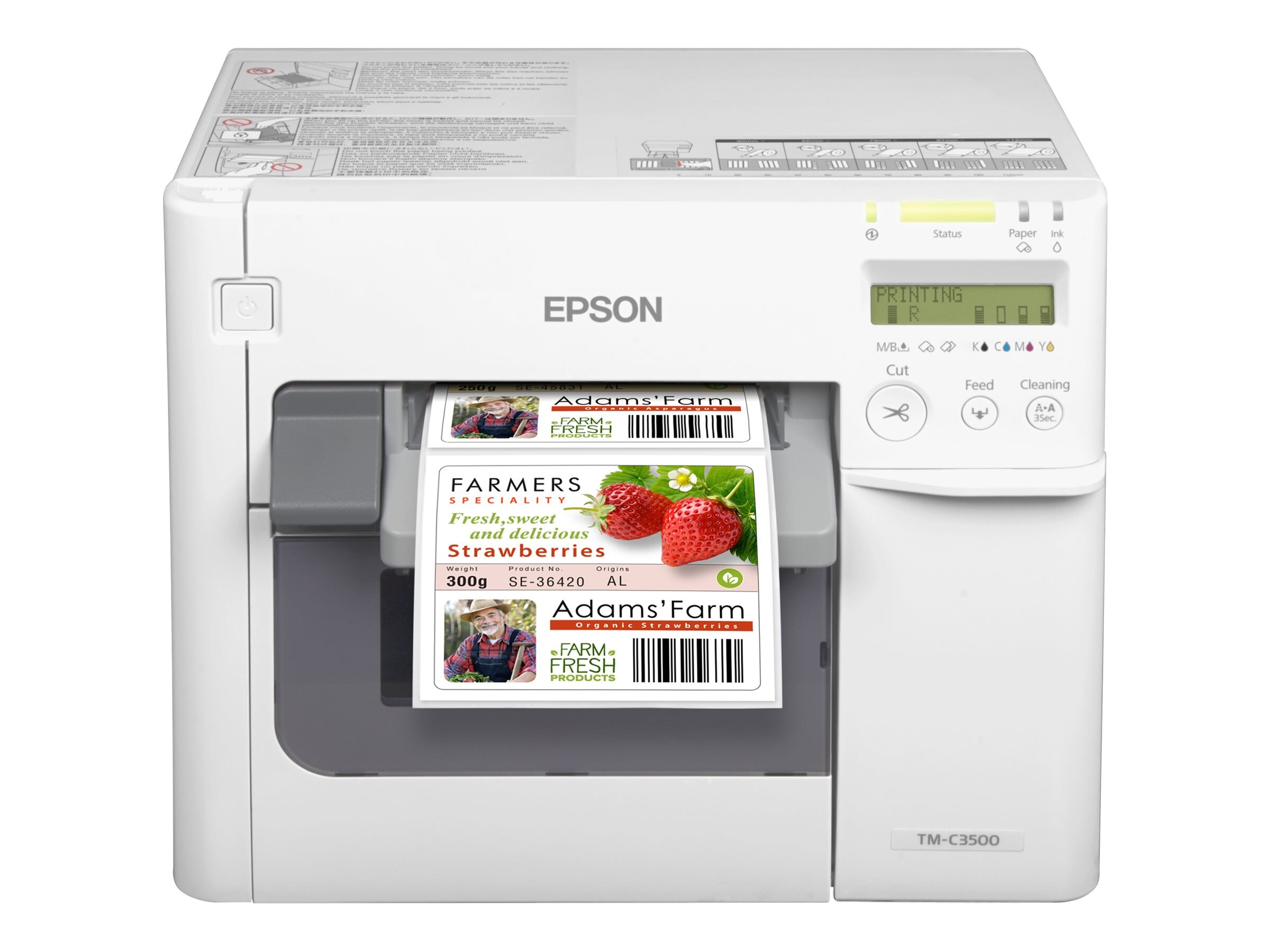 Epson ColorWorks TM-C3500 On-demand Color Inkjet Label Printer, C31CD54A9991