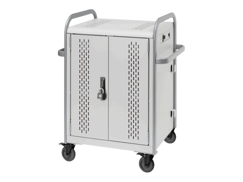 Bretford Manufacturing 24-Unit Chromebook Charging Cart with Back Access Panel, MDMTAB24BP-CTAL, 20594408, Computer Carts