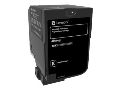 Lexmark Black High Yield Return Program Toner Cartridge for CS720 & CS725 Series, 74C1HK0