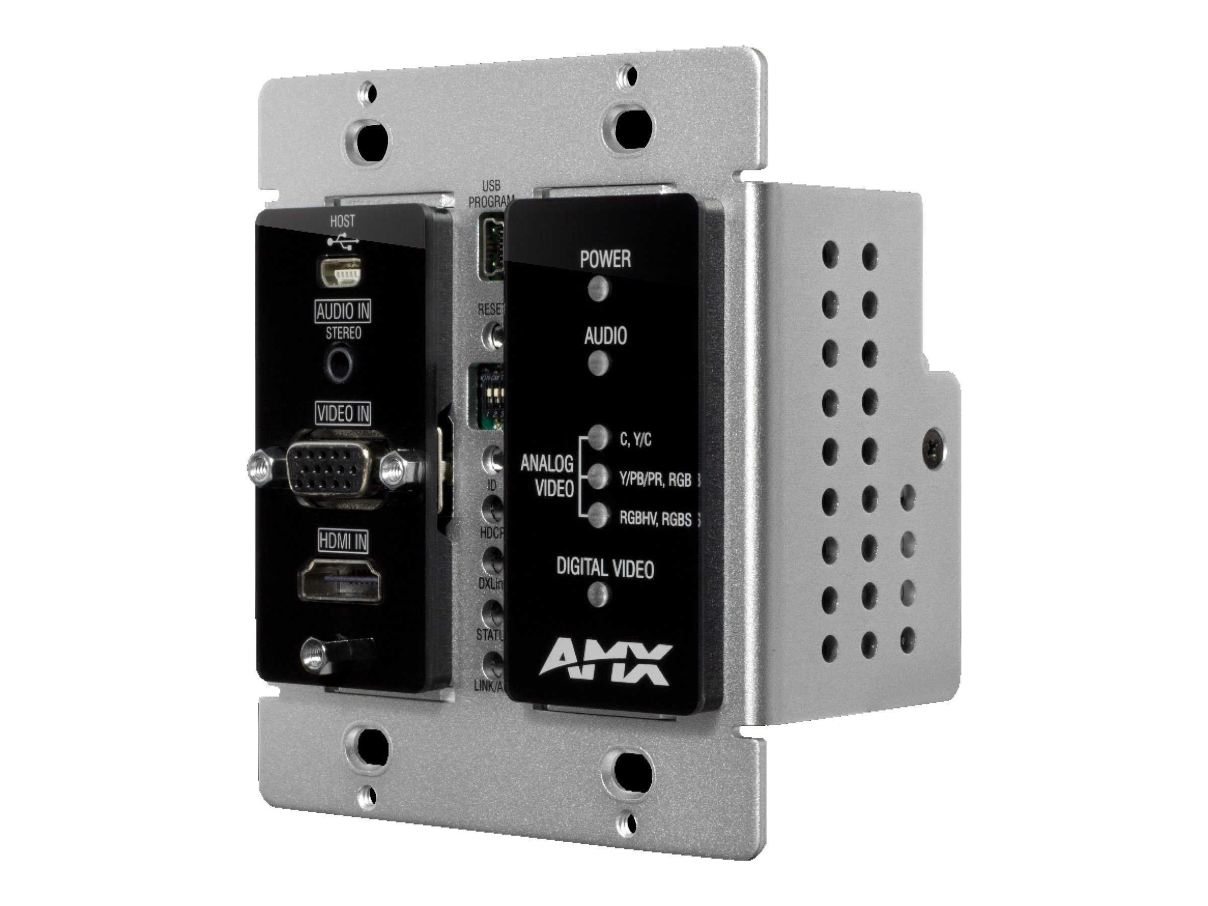 AMX Wallplate Transmitter, Black, FG1010-325-BL, 17812419, Premise Wiring Equipment