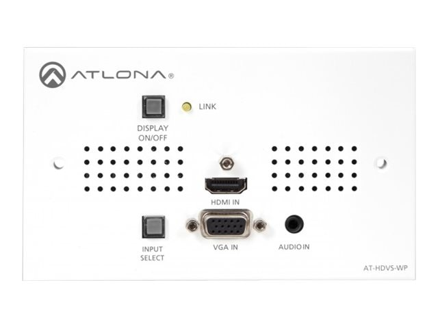 Atlona HDMI and VGA Audio to HDBaseT Switcher TX Wall Plate