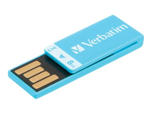 Verbatim 8GB Clip-it USB Flash Drive, Blue