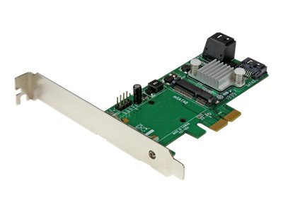 StarTech.com 3-Port PCI Express 2.0 SATA III 6 Gbps RAID Controller Card w  mSATA Slot and HyperDuo SSD Tiering