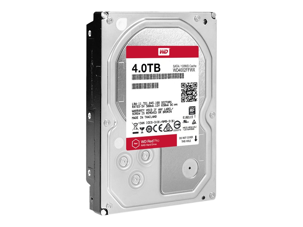 WD 4TB WD Red Pro SATA 6Gb s 3.5 Internal Hard Drive - 128MB Cache, WD4002FFWX
