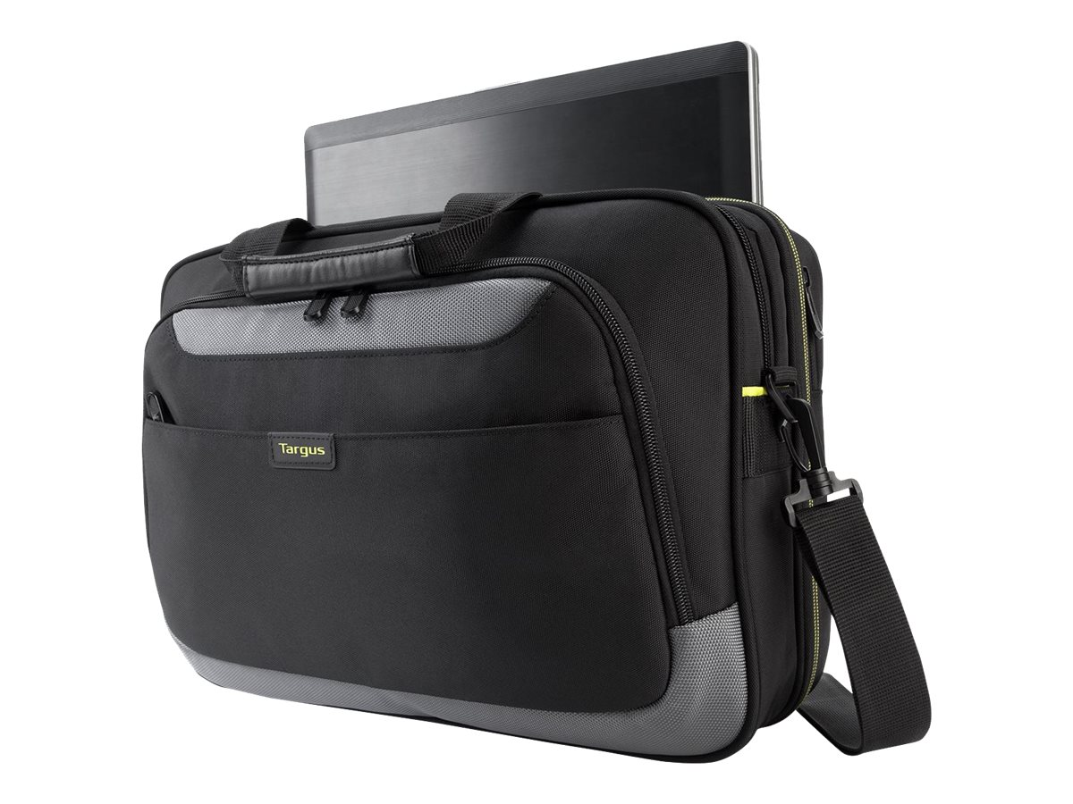 Targus Citygear Topload Case for Chromebook 15.6, Black Gray Lime, TCG465