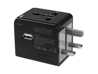 Macally Portable Universal Power Adapter with USB Port