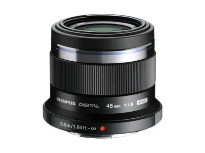 Olympus M.ZUIKO Digital 45mm f 1.8 Lens, Black, V311030BU000, 15751958, Camera & Camcorder Lenses & Filters