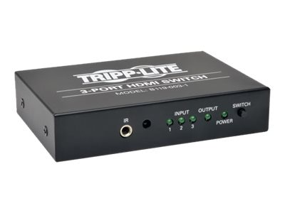 Tripp Lite 3-Port High Speed HDMI Switch for Video and Audio with Remote