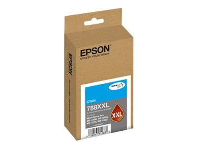Epson Cyan 788XXL Extra High Capacity Ink Cartridge, T788XXL220