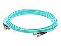 ACP-EP ST-ST Laser-Optomized Multi-Mode Fiber (LOMM) OM4 Duplex Patch Cable, Aqua, 30m