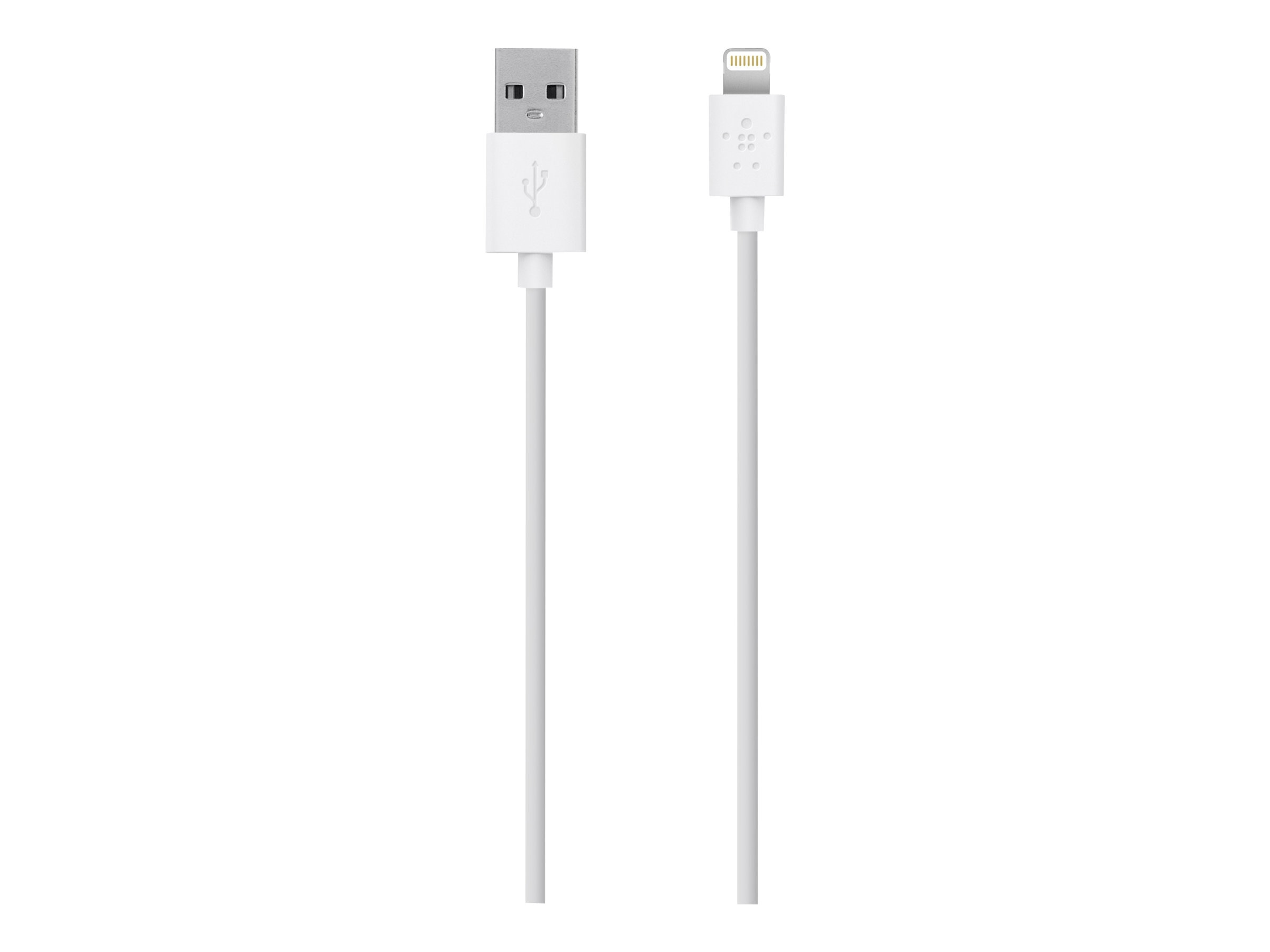 Belkin MIX IT Lightning Sync Charge cable, 1.2m, 4ft, White, F8J023BT04-WHT, 15622144, Cables