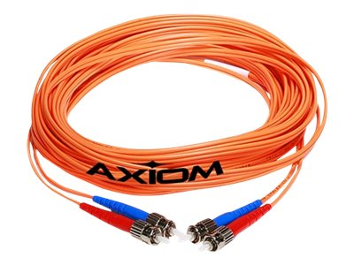 Axiom Fiber Patch Cable, ST-ST, 50 125, Multimode, Duplex, 9m
