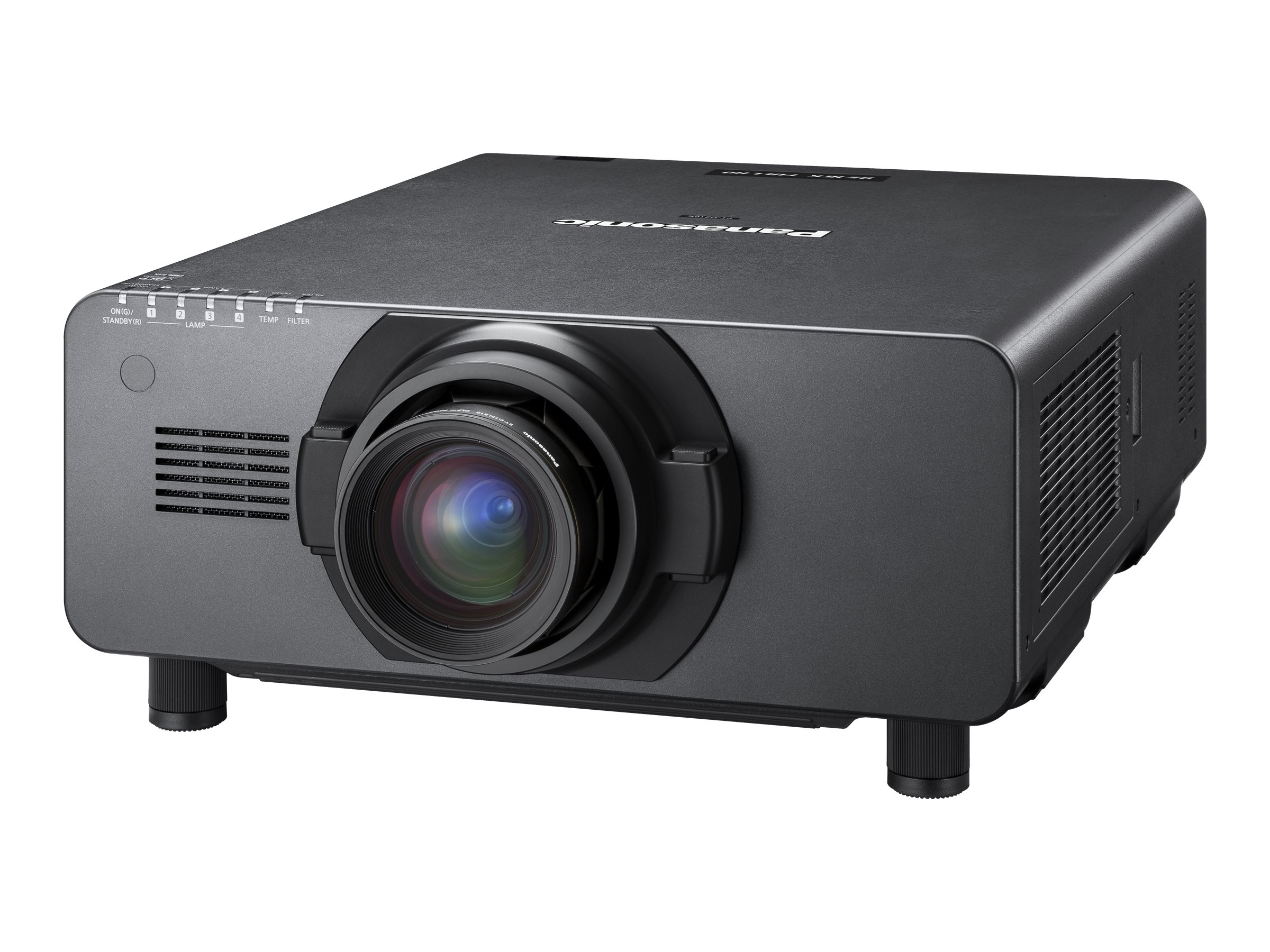 Panasonic PT-DZ16KU Full HD DLP Projector, 16000 Lumens, Black