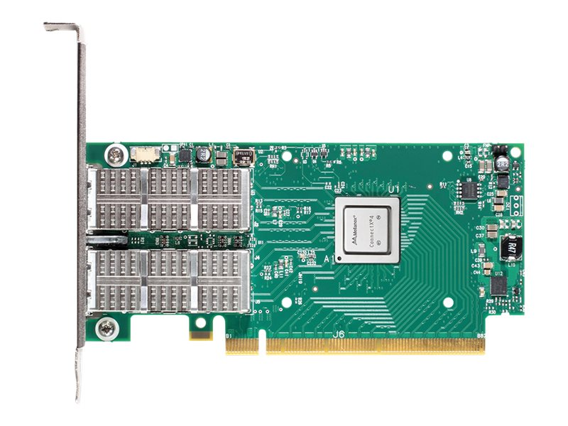 Mellanox ConnectX-4 VPI 2-Port EDR IB (100Gb s) QSFP Adapter Card, MCX456A-ECAT, 18740023, Network Adapters & NICs