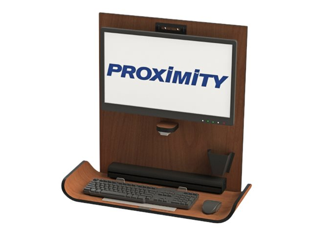 Proximity Classic CX1 Wall Mounted Computer Workstation, Brighton Walnut