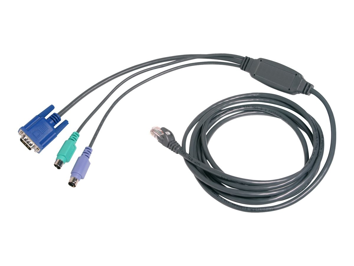 Avocent PS 2 Cat5 Integrated Cable For AutoView KVM Switch 15ft, PS2IAC-15