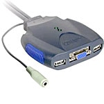 C2G TRULINK 2-Port VGA and USB Micro KVM Switch with Audio