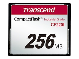 Transcend 256MB Industrial Temp CF220I CompactFlash Card, TS256MCF220I, 32655693, Memory - Flash