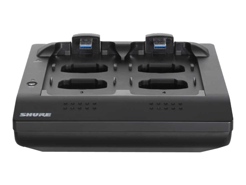Shure 4ch networked charging station, MXWNCS4