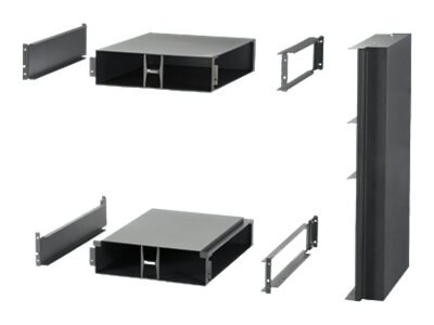 Panduit Net-Direct Air Inlet Duct for Cisco Nexus 7009 w  3U Top, 3U Bottom Inlet Ducts, Side Duct, Black, CNLTD142A3