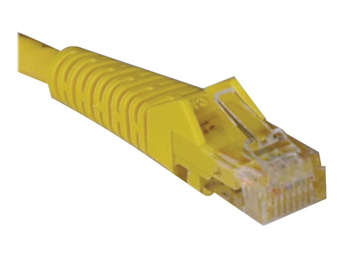 Tripp Lite Cat5e RJ-45 M M Snagless Molded Patch Cable, Yellow, 3ft