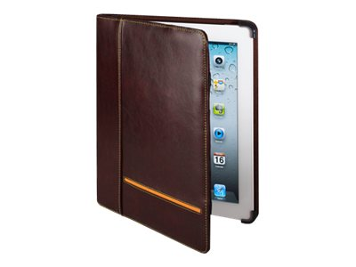 Cyber Acoustics iPad 3 Brown Leather Cover, IC-1003BR, 14439524, Carrying Cases - Tablets & eReaders
