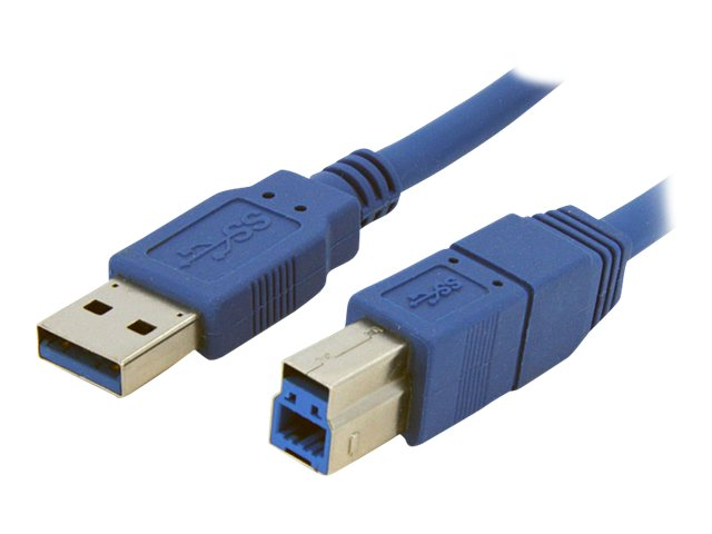 StarTech.com Super Speed USB 3.0 Cable, USB Type A to USB Type B (M-M), Blue, 6ft
