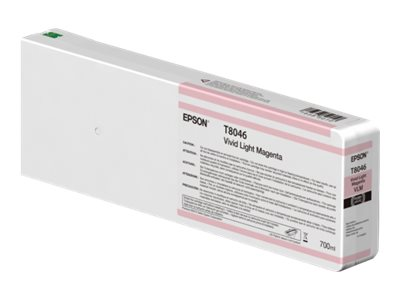 Epson Vivid Light Magenta Ultrachrome HDX 700ml Ink Cartridge for SureColor P6000, P7000, P8000 & P9000, T804600
