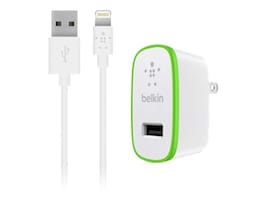 Belkin BOOST-UP iPad and iPhone 5 Charger w  Lightning ChargeSync Cable 12W 2.4A, White, F8J125TT04-WHT, 17790707, Battery Chargers