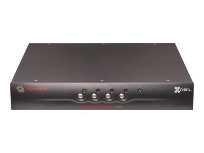 Avocent Cybex, NIAP,  EAL4+ and TAA compliant, Switchview SC4 Secure KVM Switch 4-Port DVI, USB, SC4UAD-001, 6843279, KVM Switches
