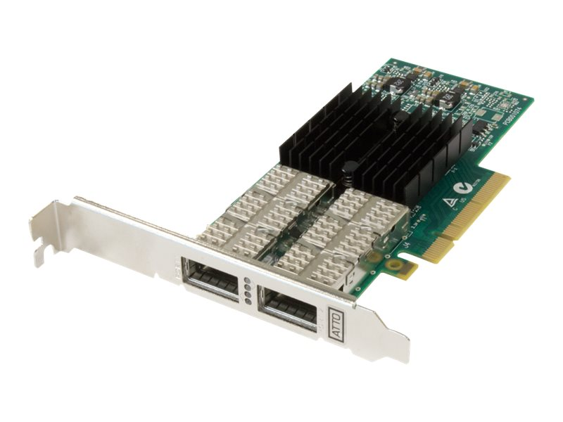 Atto FastFrame 2-Port 40GbE PCIe 3.0 x8 QSFP+ LP NIC
