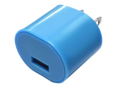 Mizco 1A USB Wall Charger, Blue