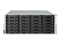 Supermicro Chassis, SuperChassis 847E26 4U RM (2x)Intel AMD Family Max.36x3.5 HS Bays 7xPCIe 2x1280W, CSE-847E26-R1K28WB, 18447290, Cases - Systems/Servers