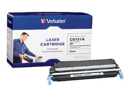 Verbatim Cyan Verbatim Toner Cartridge for HP LaserJet 5500 and 5550 Series Printers, 95352, 6696168, Toner and Imaging Components
