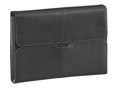 "Targus 10.2"" Hughes Leather Netbook Sleeve, Black, TES003US, 10159921, Protective & Dust Covers"