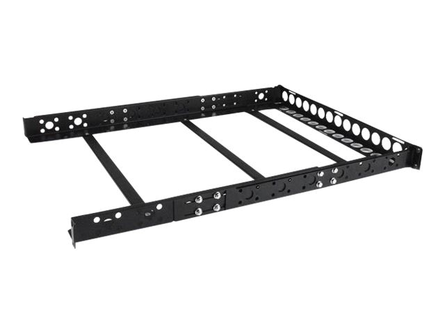 StarTech.com Fixed 19 Adjustable Depth Universal Server Rack Rails, 1U