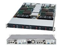 Supermicro Chassis, SuperChassis 809T 1U RM (2x) Xeon Opteron Series 4x2.5 Bays PCIe 3xFans 780W, Black
